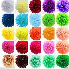 "3 X TISSUE PAPER POM POMS 8"" CHRISTMAS NEW YEAR PARTY HANGING DECORATIONS UK"