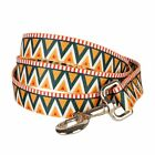 Blueberry Pet Elite Dog Leash Lead 5,5,4 ft with Flame Stitch and Henley Stripes
