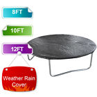 Trampoline Rain Dust Cover Waterproof Weather Protection 8FT 10FT 12FT Black UK