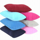 PVC Travel Pillows Air Inflatable Pillow Flocking Cushion for Outdoor Camping