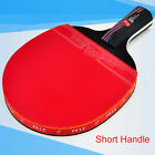 Carbon Fiber Table Tennis Racket Ping Pong Paddle Bat Long Short Handle With Bag