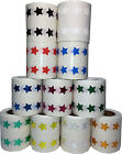 Star Stickers, 1/2 Inch Wide Labels, 1000 Stickers on a Roll, 14 Color Choices