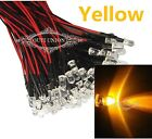 Wholesale 3mm 12V Prewired LED Bright Light Yellow Bulbs Lamp 20cm Pre-wired LED