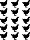 15 Decorative Vinyl Chicken  stickers  Walls, Windows,Furniture,Kitchens,Laundry