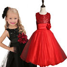 Pretty Sequins Sleeveless Little Girl Prom Party Princess Ball Flower Girl Gowns