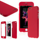 Ultra Thin 360° Full Body Protective Case For iPhone Models, Tempered Glass фото