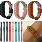 Genuine Leather Watch Band Strap Classic Steel Buckle For Fitbit Flex 2 Tracker