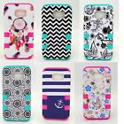 For Samsung Galaxy S6 S7 HARD RUBBER SKIN HYBRID SHOCKPROOF ARMOR COVER CASE