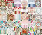 "Dovecraft First Edition scrapbooking paper 8"" x 8"" Full Pack - FREE UK P&P"