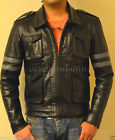 RE6 RESIDENT EVIL 6 LEON KENNEDY'S GENUINE BLACK LEATHER JACKET