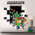 LARGE MINECRAFT GAMING PIXELS KIDS WALL STICKER DECAL POSTER STEVE