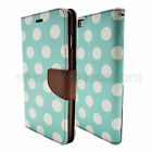Mint Dots Leather Flip Wallet Protective Case Cover For Apple iPhone 6 6S 7 PLUS