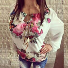 Fashion Women's Long Sleeve Shirt Casual Lace Blouse Loose Cotton Tops T Shirt