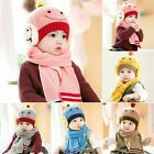 New Winter Baby Toddler Girls Boys Warm Beanie Smile Knitted Scarf Cap CH3002
