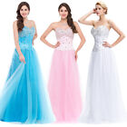 2016 PLUS+ WEDDING Beaded Corset Evening Formal Ball gown Party Prom Dress Long