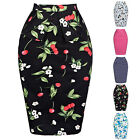 2016 New Womens Bodycon Pencil High Waisted Ladies Stretch Midi Skirts PLUS SIZE