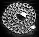 HEAVY ARTISAN DESIGNED CURB LINK CHAIN 925 STERLING SILVER MENS NECKLACE WE3