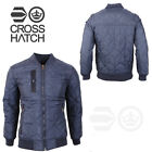 Mens Quilted Jacket Crosshatch Quilts Diamond Hunter Bomber Coat UK S M L XL 2XL