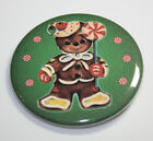 GINGERBREAD MAN CHRISTMAS MAGNET or PIN BUTTON Holiday Retro Child Vintage Art