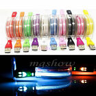 Light-up LED USB Data Sync Charger Cable Charging Cord For iPhone Samsung Phone