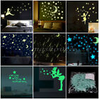 Glow In The Dark Star Sticker Luminous Cartoon Kid Nursery Room Wall Decor Decal