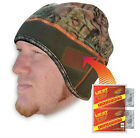Heated Beanie with free hand warmer Mens and Ladies Mossy Oak or Black