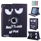 Slim Shell Stand Case Leather Rotating Cover for iPad 2 3 4 Air Mini 9.7 2018