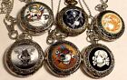 CHOICE BIG DEATH-DRAGON-SKULL 2-IN-1 NECKLACE/KEYRING PENDANT WATCH USA SELLER