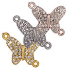 Crystal Rhinestone Baby Small Paved Butterfly Bracelet Connector Charm Jewelry