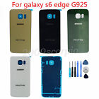 Back Glass Battery Cover Door For Samsung Galaxy S6 edge Sprint G925 Repair Part