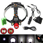 18000Lm 3x XM-L T6 LED Zoomable Rechargeable 18650 Headlamp Headlight Head Torch