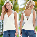 Womens Summer Fashion Vest Sleeveless Blouse Casual Tank Tops T-Shirt Blouse NEW