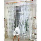 Floral Window Tulle Door Room Modern Curtain Divider Panel Drapes Valance