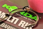 5 x Korda Ready Tied Multi Rigs Barbed or Barbless Available Sizes 4, 6 or 8