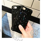 Fashion Cute Black Bling Star Glitter Soft Gel Case Cover for iPhone 6/6S/7 Plus