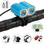 10000LM 2X XML T6 LED Mountain Bike Bicycle Light Front Head Lights 4x18650 Lamp