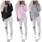 Fashion Fall Women Ladies Lace Up Sweatshirt Long Sleeve Casual Jumper Coat
