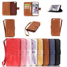 Vintage Dream Retro Flip Stand PU Leather Card Wallet Case For iPhone 5/6s+/7/7+