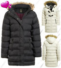 NEW Plus Size 18 20 22 24 Womens Faux Fur PADDED Ladies JACKET Puffa PARKA COAT