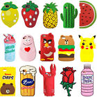 New Cartoon Cute Fruit Animals Soft Silicone 3D Case Cover Back Skin For iPhone
