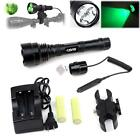 Green/Red LED Hunting Tactical Flashlight / Mount / 2x18650 Batteries / Charger
