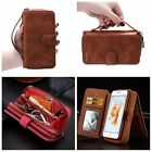 Luxury Zipper Leather Purse Cash Holder Wallet Case Card Skin For iPhone Samsung