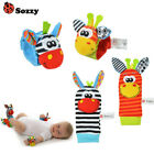 SOZZY Baby Rattles Animal Socks Wrist Strap With Rattle Baby Foot Socks