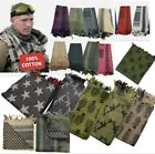 100% Woven Cotton Military Shemagh Headscarf Keffiyeh Veil Tactical Sniper Wrap