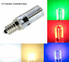 E12 C7 LED bulb Red/Green/Blue/White/Warm 64-3014SMD Dimmable Light AC110~120V