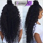 7A Deep Curly Brazilian Human Hair Lace Front Human Hair Wigs Full Lace Wigs
