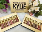 NEW KYLIE BIRTHDAY EDITION MINI GOLD MATTE LIQUID LIPSTICK KIT LIMITED + TRACK
