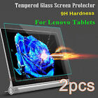 2PCS Tempered Glass Screen Protector Film Protection Cover For Lenovo Tablets