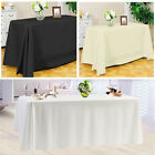 1 5 10 Rectangle Polyester Tablecloth Table Cover Cloth Party White Black Ivory