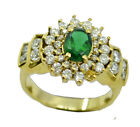 Emerald CZ Gold Plated gorgeous wholesales Ring K,M,O,Q UK